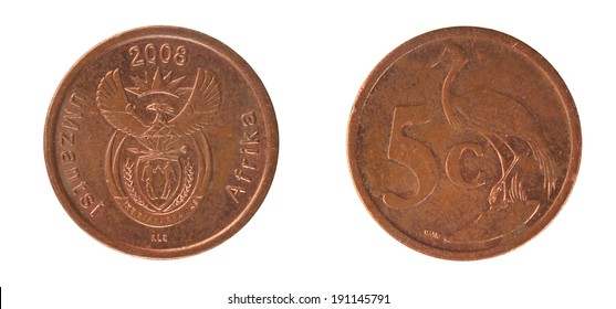 Copper Coins South Africa 5 cents