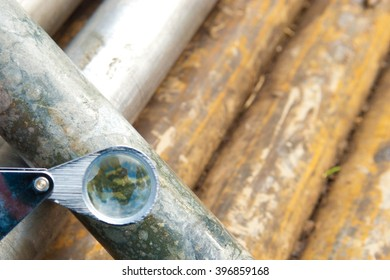 copper core ore sample from a test drill