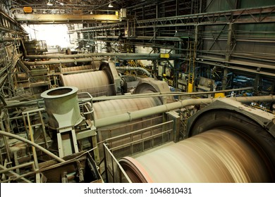Copper crushing plant, in the conventional milling process.