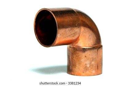 Copper elbow used for plumbing