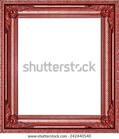 Copper Frame Isolated On White Background Stock Photo (Edit Now ...