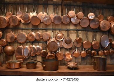 Copper kitchenware