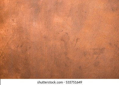Copper metallic painted surface background