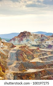 copper mine, Minas de Riotinto, Andalusia, Spain