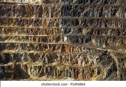 Copper mine open pit Atalaya Rio Tinto (Spain)