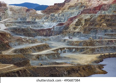 Copper mine with its special colors