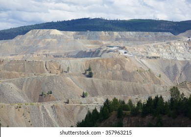 Copper Mountain in an open pit porphyry mine in British Columbia Canada. It is the third-largest copper mine in Canada.