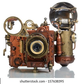 Copper Photo camera.. Style Steampunk.