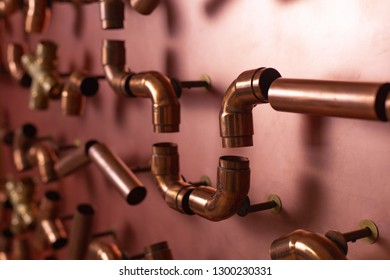 A lot of copper pipes for the connection on the shield