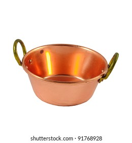 copper pot isolated on white background