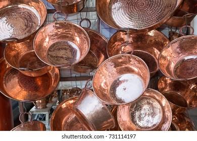 copper pots in Santa Clara del Cobre Mexico
