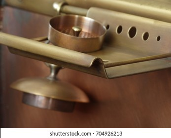 Copper sink plug and strainer
