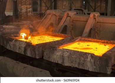 Copper smelter  Copper smelting industry complex in process of making copper plates out of copper ore