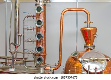 Copper Still Pipes Distillery Equipment Micro Brewery