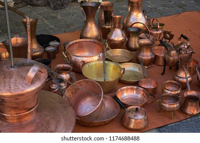 Copper tableware for cooking and various drinks