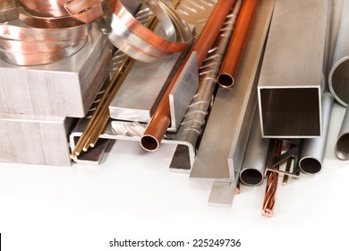 Copper tube and wire, aluminum angles, profiles, brass and bronze