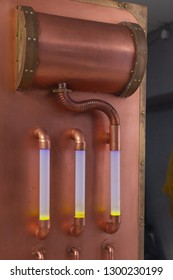 Copper tubes with liquid and lighting