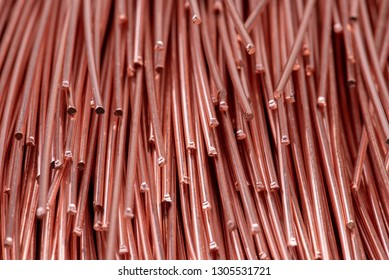 Copper wire rod metals industry and stock market concept