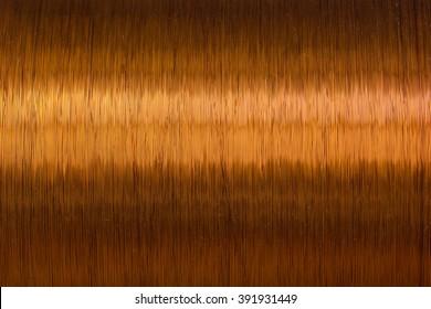 copper wire spool texture metal closeup