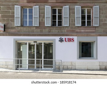 COPPET, SWITZERLAND  APRIL 6, 2014: A branch of UBS bank.   UBS is a global firm providing financial services in over 50 countries.