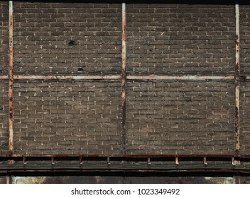 Copy Background of old vintage Brick wall with dirt and scratches on it
