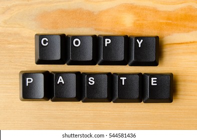 Copy paste words with keyboard buttons