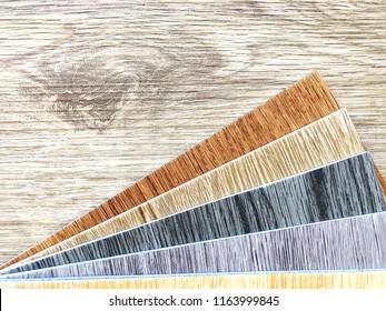 Copy space , Luxury vinyl wood flooring for home interior decoration or renovation design item
