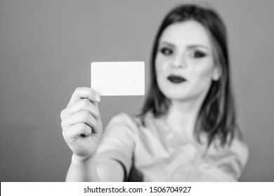 copy space. nurse in white uniform hold business card. sexy woman doctor. health care and medical concept. Doctor and patient. Health care and cure. healthy lifestyle. here is my business card.