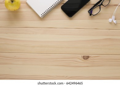 Copy space on wooden table