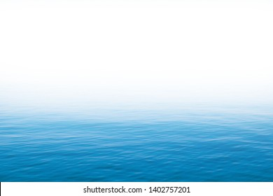 Copy space surface water texture for background. Water isolated with white room for text. Calm relaxing clear sea top level.