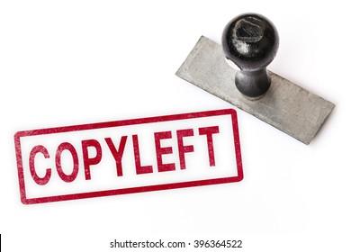 copyleft copyleft text label stamp for documents.