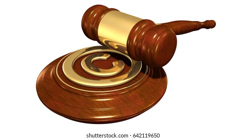 Copyright Law Concept 3D Illustration