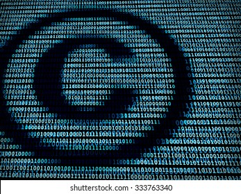 Copyright symbol in digital background / A concept of intellectual property in technology