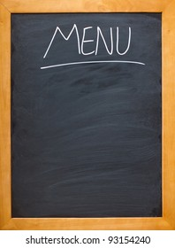 Copyspace for your own menu, chalk board,