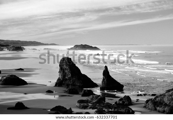 Coquille Point Beach, Kronenberg park, Bandon, Coos County, Oregon
