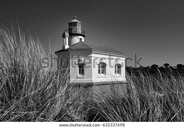 Coquille River Lighthouse, Bullards Beach State Park, Bandon, Oregon