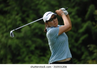COQUITLAM, CANADA - AUGUST 23, 2015: candie Kung of Taiwan competes at the LPGA Canadian Pacific Women's Open golf tournament at the Vancouver Golf Club in Coquitlam, Canada, Aug. 23, 2015.