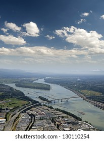 Coquitlam, Fraser Valley - Cape Horn and Port Mann Bridge, original before the reconstruction