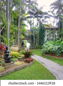 Coral Gables, Florida - February 24, 2010: The Kampong, winter residence of the famed horticulturalist Dr. David Fairchild