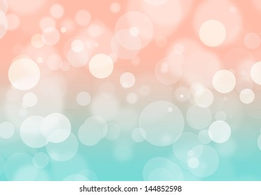 coral and mint bokeh background