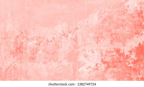 Coral Plaster Textured Background, copy space