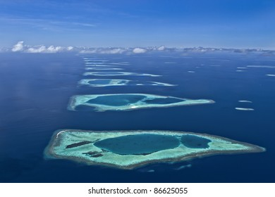 Coral Reef Atolls that stretch to the horizon