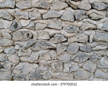Coral stone wall in Maldives