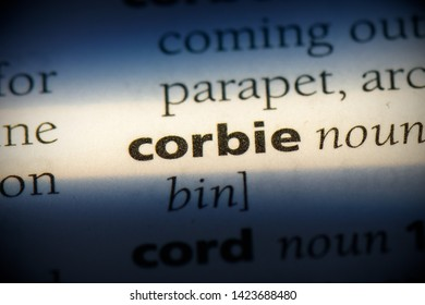 corbie word in a dictionary. corbie concept.