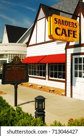 Corbin, KY, USA June 24 The Sanders Café in Corbin, Kentucky is the first location for Kentucky Fried Chicken, a name that would be franchised throughout the world