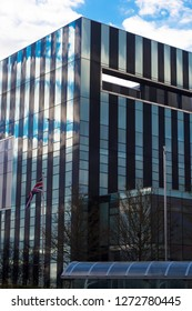 Corby, United Kingdom - 01 January 2019 - Corby Cube building, Corby Borough Council.