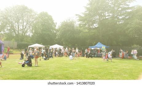 Corby, United Kingdom. June 01, 2018.  Celebrating child care day. Outdoor festival.