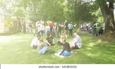 Corby, United Kingdom. June 01, 2018.  Celebrating child care day. Outdoor festival