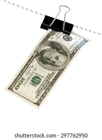 cord with dollar isolated on a white background