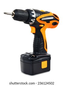 Cordless Drill - Screwdriver on a white background